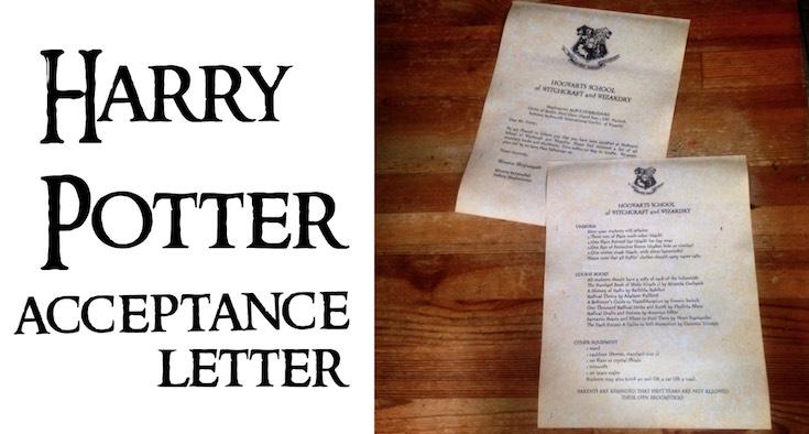 Harry Potter Hogwarts Acceptance Letter - Paper Trail Design