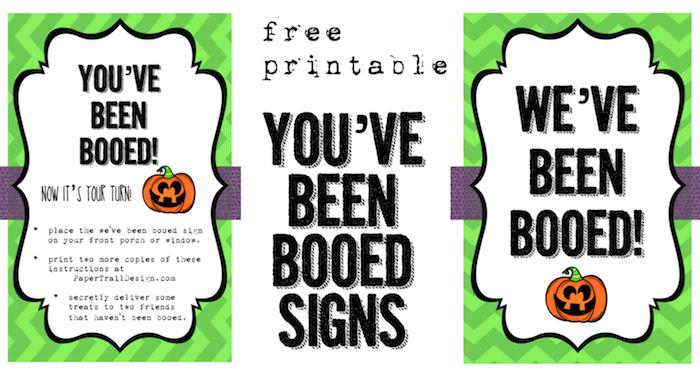 We\u0027ve Been Booed Free Printable - Paper Trail Design