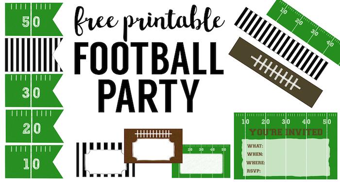 Football Food Labels {Free Printable} - Paper Trail Design