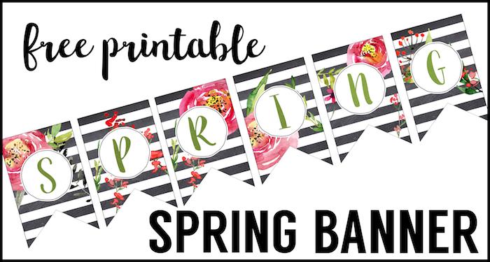 Spring Banner Printable {Spring Decorations} - Paper Trail Design