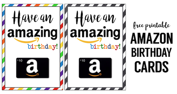 Amazon Birthday Cards Free Printable - Paper Trail Design