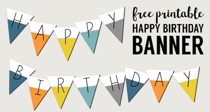 Free Printable Happy Birthday Banner - Paper Trail Design