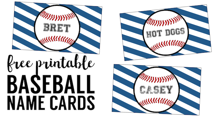 Baseball Place Card Holders Free Printable - Paper Trail Design - cards party