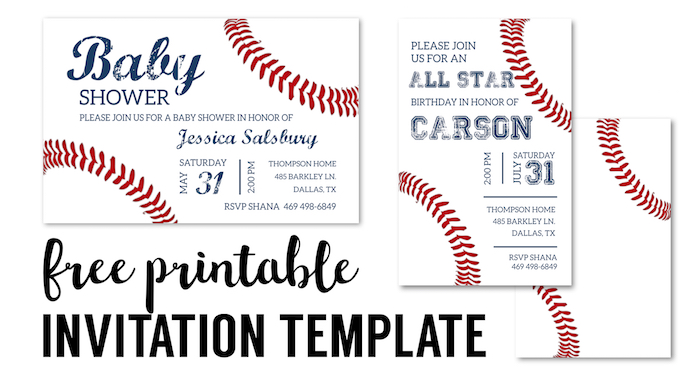 Birthday Invitations Free Printable Templates - Paper Trail Design