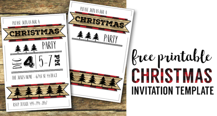 Christmas Party Invitation Templates Free Printable - Paper Trail Design