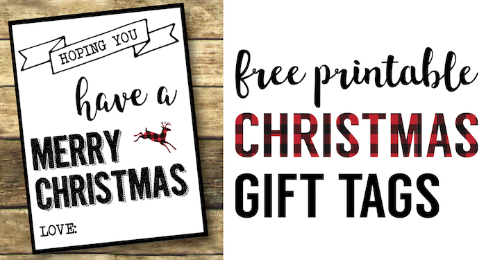 Christmas Labels Printable {Free Christmas Gift Tags Printable