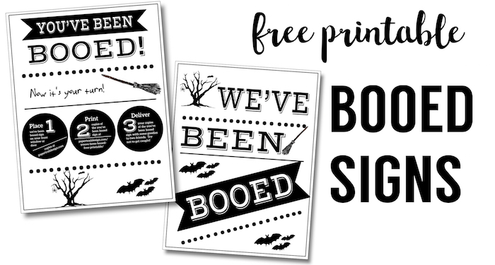You\u0027ve Been Booed Free Printable Signs - Paper Trail Design