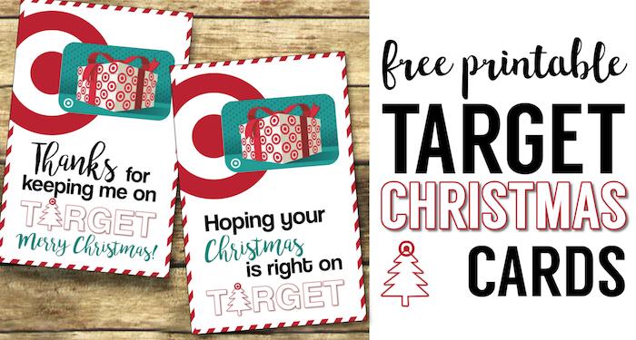 Target Christmas Gift Card Holders {Teachers, Friends, Neighbors