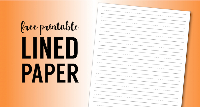 Free Printable Lined Paper {Handwriting Paper Template} - Paper