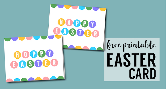 Happy Easter Cards Printable - Free - Paper Trail Design