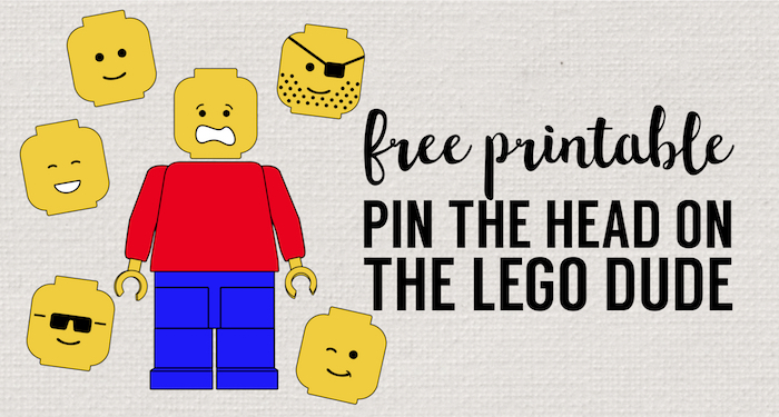 Pin the Head on the Lego Man Party Game Free Printable - Paper Trail