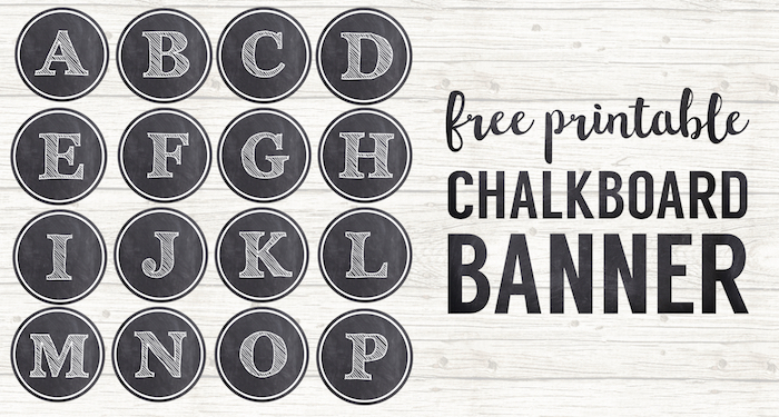 Chalkboard Banner Letters Free Printable Alphabet - Paper Trail Design - chalkboard writing template