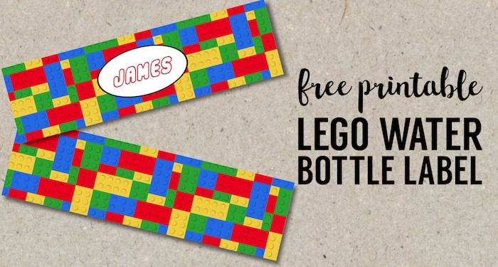 Free Printable Lego Water Bottle Labels - Paper Trail Design