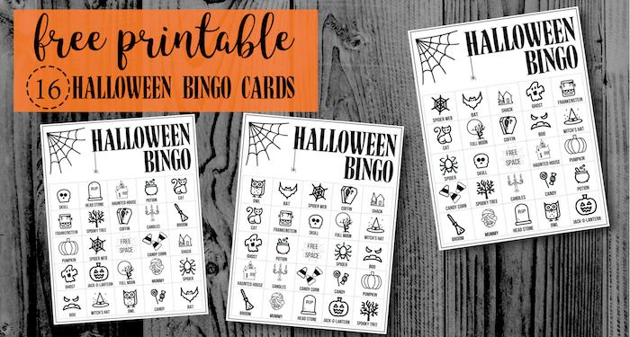 Halloween Bingo Printable Game Cards Template - Paper Trail Design