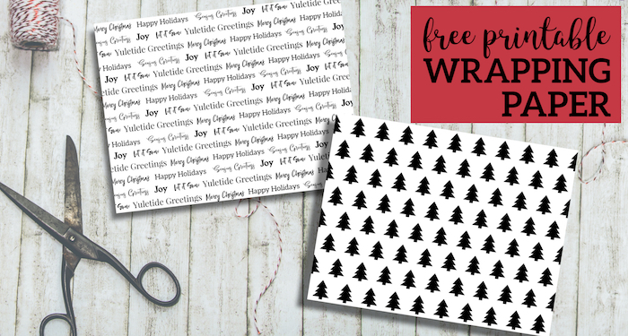 Free Printable Christmas Wrapping Paper - Paper Trail Design