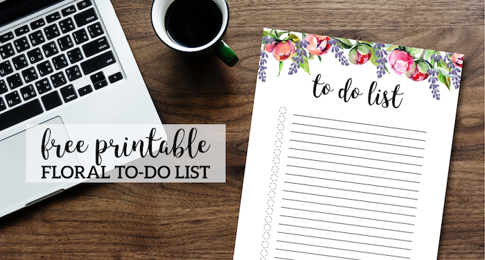 Floral To Do List Printable Template - Paper Trail Design