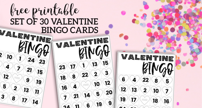 Free Valentine Bingo Printable Cards - Paper Trail Design