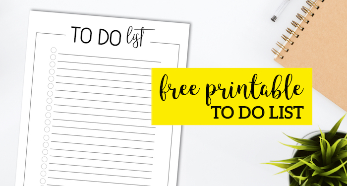 Free Printable To Do Checklist Template - Paper Trail Design