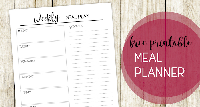 Printable Meal Planning Template - Paper Trail Design