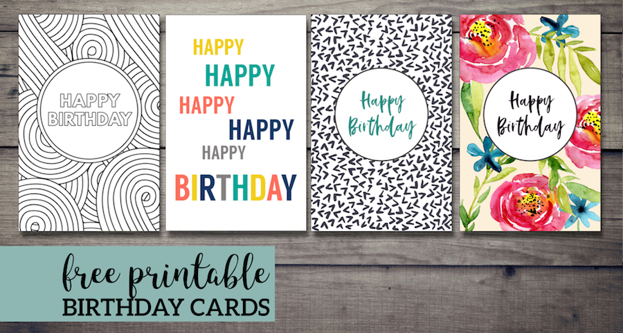 Free Printable Birthday Cards - Paper Trail Design