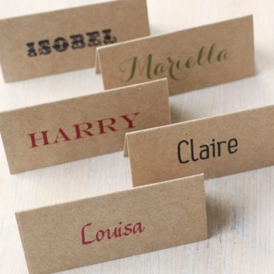 Name Place Cards and Tags for Weddings, Parties and Events