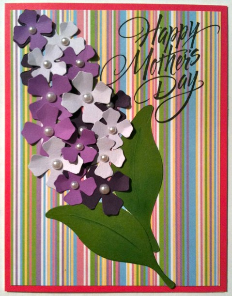 Purple Lilac Easter Crafts Quilling