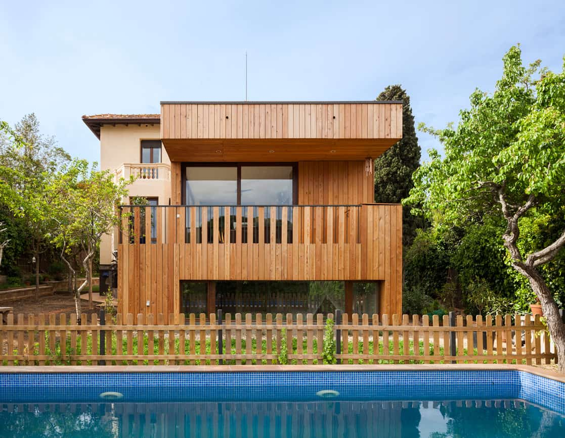 casa passiva piscina barcelona casa ecológica