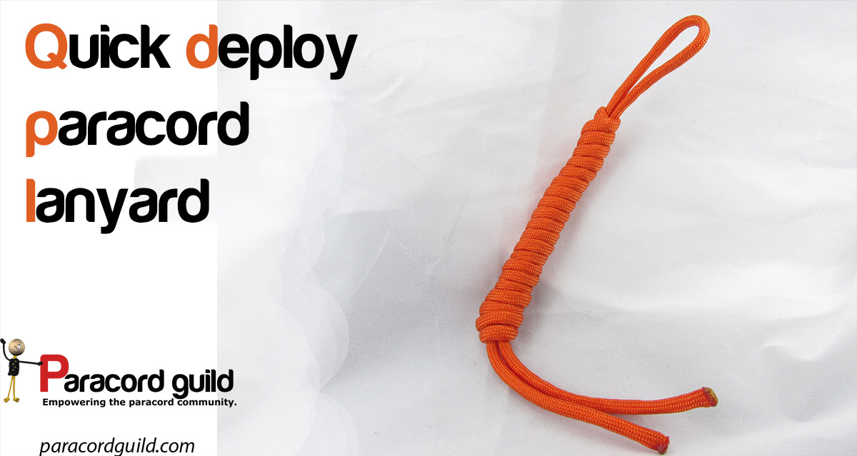 Quick Deploy Paracord Lanyard Paracord Guild