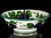 c1895 Wemyss Ware Large Fruit Bowl with Plum Decoration | eBay