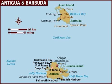 SAMPLE YACHT CHARTER ITINERARY ANTIGUA - BARBUDA Crewed Caribbean