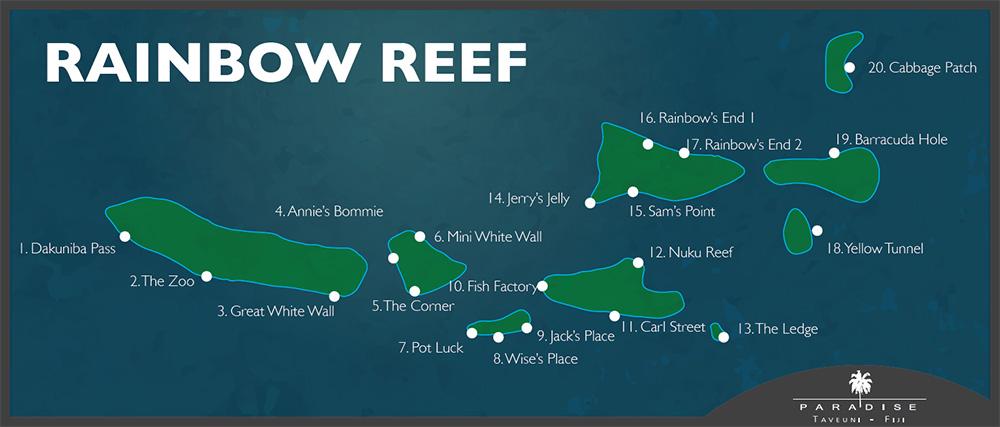 Paradise Taveuni - Rainbow Reef Dive Sites