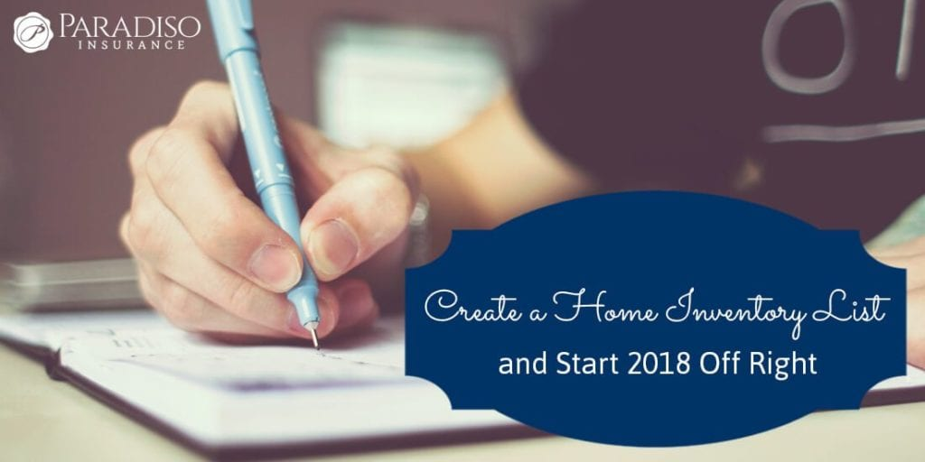 How To Create a Home Inventory List Paradiso Insurance