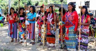 "La tradicional ""Fiesta Cultural Maká"" que se realiza cada 14 de febrero en la comunidad Quemkuket de Puerto Falcón (Foto: SNC)"