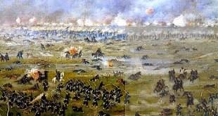 Así pintó Cándido López a la Batalla de Curupayty (22 de septiembre de 1866), que fue la más catastrófica derrota del ejército de la Triple Alianza. Después de ella el mando aliado entró en crisis y Bartolomé Mitre dejó la conducción de la guerra