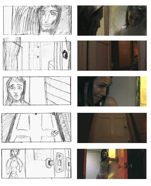Paranoid Director\u0027s Notebook Storyboard to Film Comparison