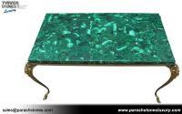 Luxury slab & furniture in malachite semi precious ...