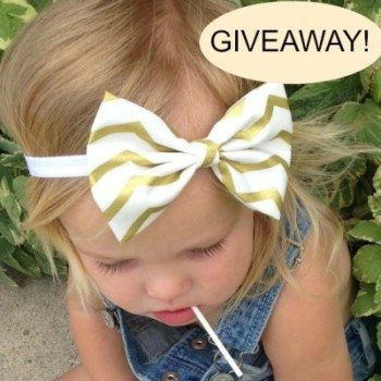Baby Girl Bow Headband Giveaway