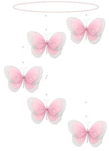 Butterfly Mobile Pink Multi-Layered Spiral Nylon Butterflies Mobiles Decorations
