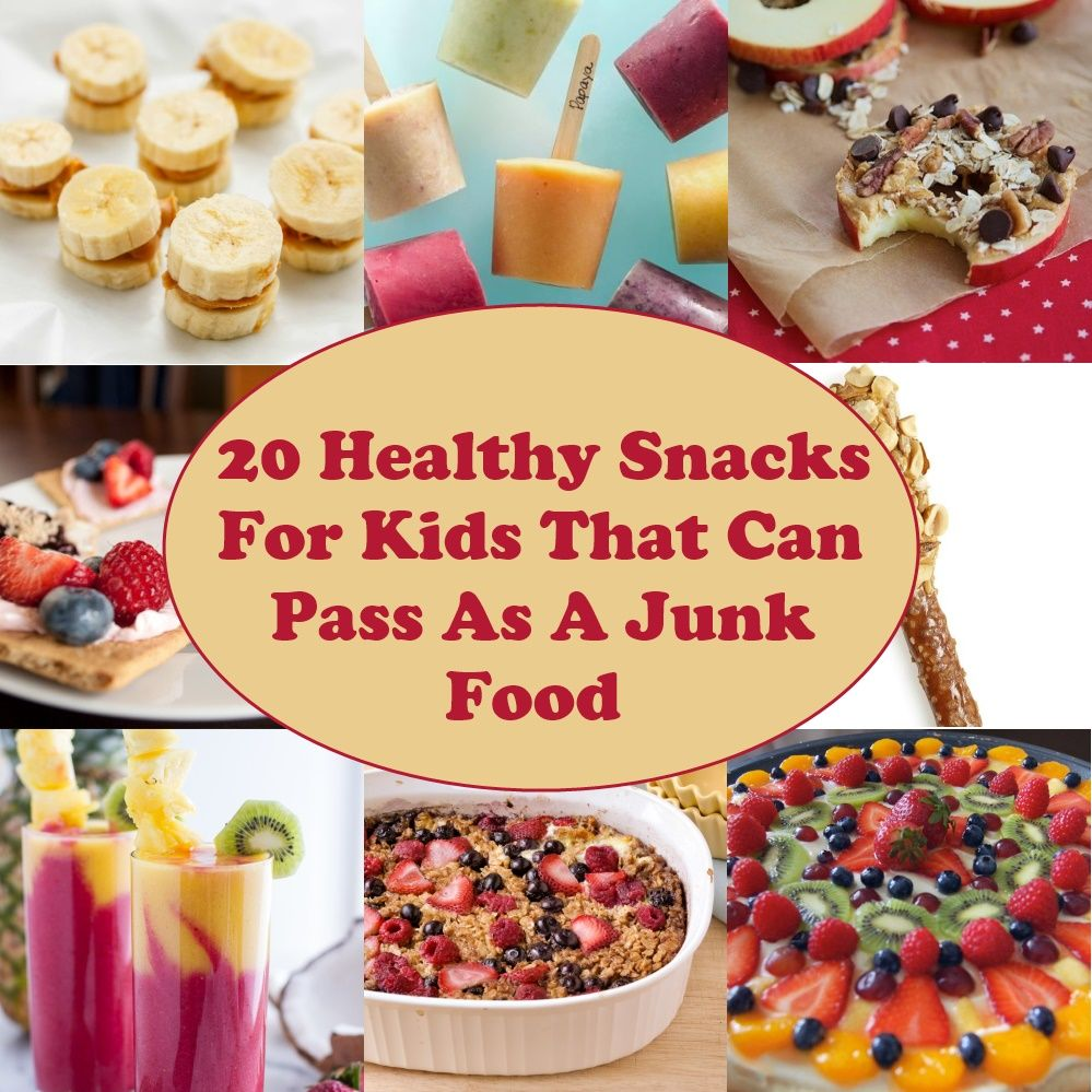 20 Healthy Snacks For Kids That Can Pass As A Junk Food