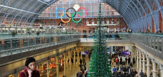 Sapin de Noël Lego à Londres