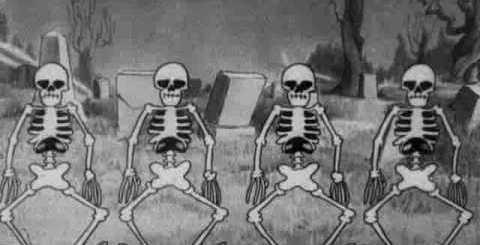 Danse des squelettes et maison hantée, Disney 1929