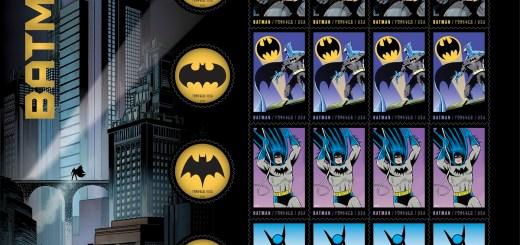 Batman USPS Stamps