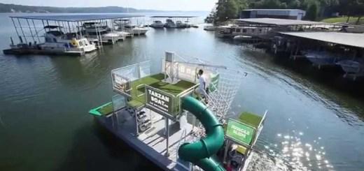 Tarzan Boat, votre propre mini-parc d'attractions aquatique