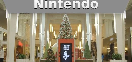 Une pub interactive de Nintendo dans un centre commercial
