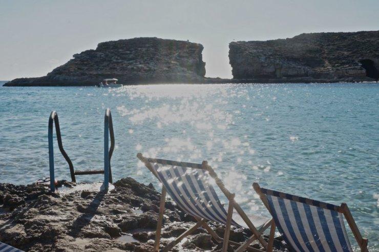 blue lagoon malta deckchair comino 2