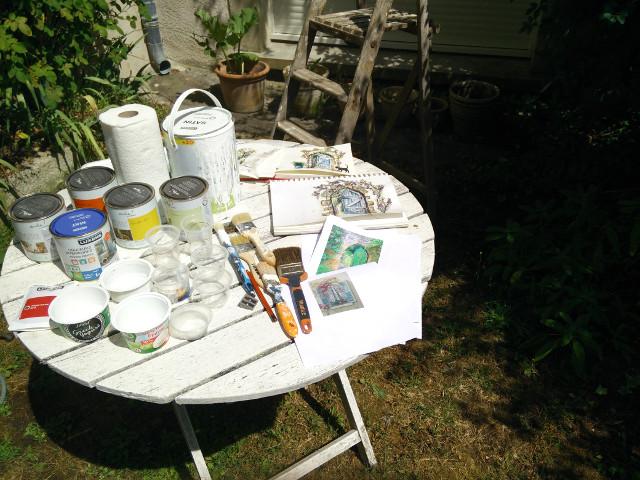 Murale d'un jardin secret : Prêt à commencer la peinture !