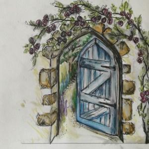 Murale d'un jardin secret : design du murale