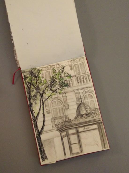 A sketch of a Paris street