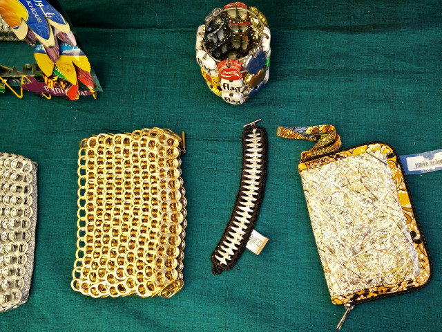 Débrouille: Purses and pouches made with recycled materials