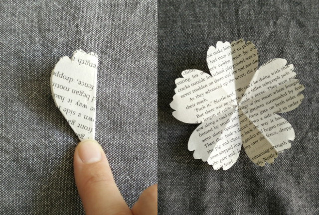 Paper flowers made from recycled books paris en rose paper flowers mightylinksfo